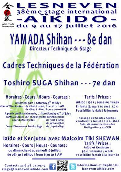 Stage aikido Lesneven 2016